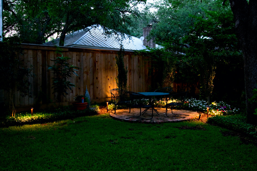 Outdoor lighting for your landscaping design brings warmth to your outdoor space. Call Cypress Lawn today to see what kind of outdoor lighting solution we can design for you!